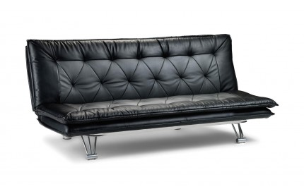 Minimalist Black Leather Sofa Bed