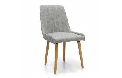 Capri Flax Effect Grey Weave Dining Chair