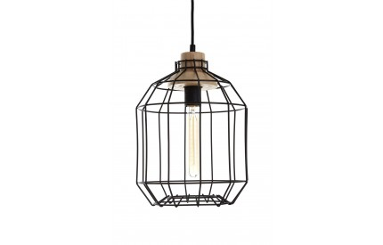 Beacan Pendant Light Metal Wire Black