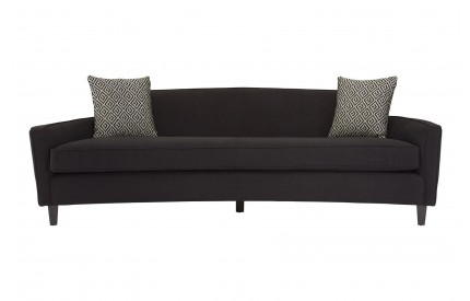 Rania 3 Seat Sofa Black Dimity Fabric