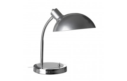 Flexible Desk Lamp Metal Silver