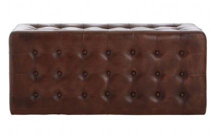 Bullworth Bench Dark Brown Leather