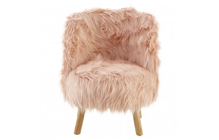Kids Pink Chair Faux Fur