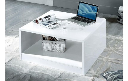 Manhattan Square High Gloss White Coffee Table