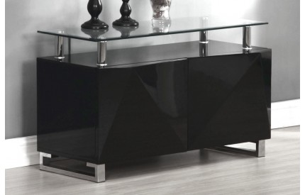 Regis Black High Gloss Sideboard 2 Doors
