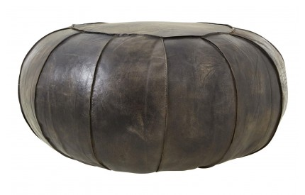 Bullworth Pouffe Antique Blue Leather