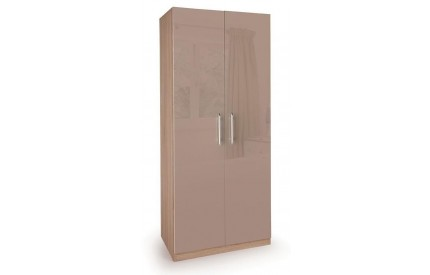 TIno High Gloss Beige 2 Door Wardrobe
