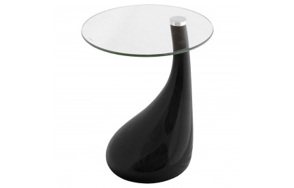 Mountly High Gloss Droplet Lamp Table Black