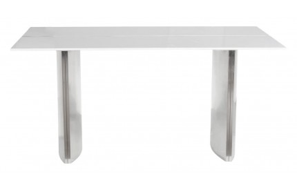 Luna Large High Gloss White Dining Table