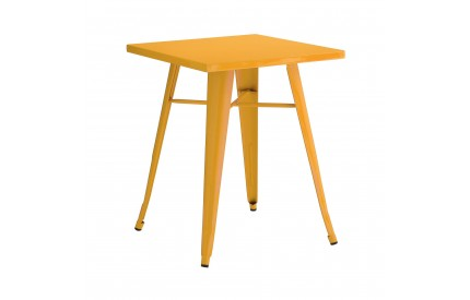 Cuboid Table Metal Yellow Powder Coated