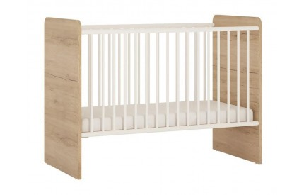 4KIDS Cot Oak High Gloss White