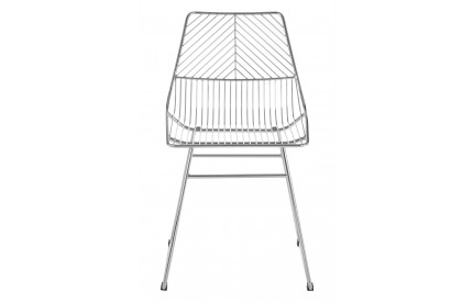 District Wire Chair Chrome Metal