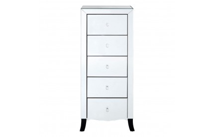 Graciela 5 Drawer Chest Mirrored