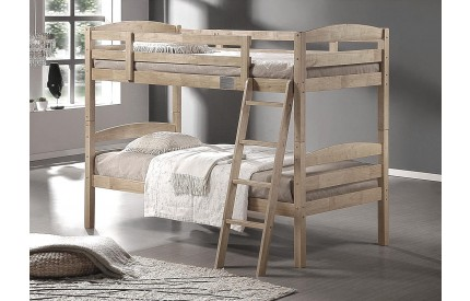 Bierut Solid Wood Bunk Bed Natural