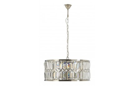 Marentina Chandelier Nickel Plated Stainless Steel Clear Crystal