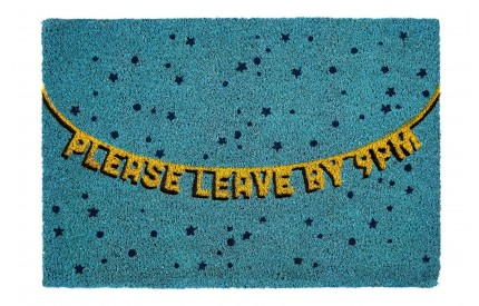 Doormat Please Leave By 9PM PVC Backed Coir