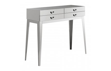 Premium Console Table With 4 Drawers Stainless Steel