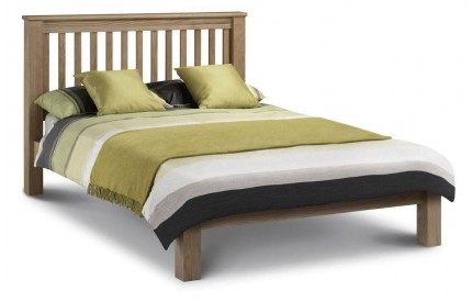 Solid Oak Bed Amsterdam Low Headboard