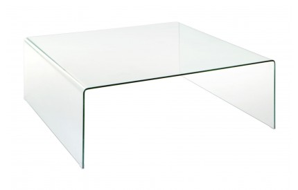 Matrix Coffee Table Clear Bent Glass