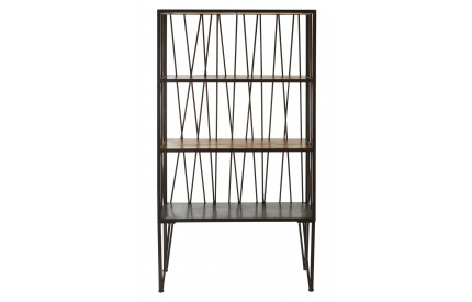Indigo Shelf Unit 4 Tier Fir Wood/Metal