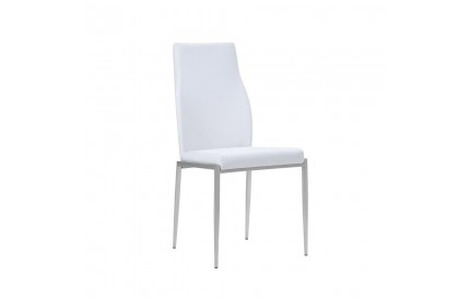 Set of 2 Milan High Back Chair White