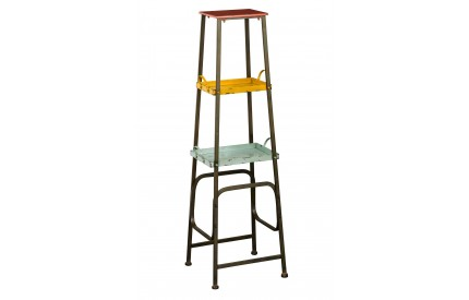 Creative Shelf Unit 3 Tier Coloured Metal