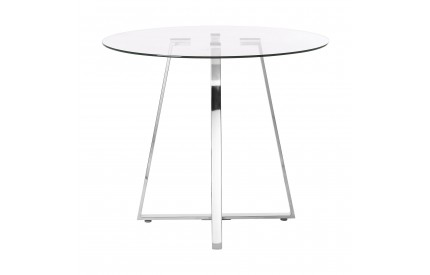 Metropolitan Dining Table Glass Round