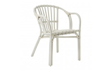 Havana Conservatory Low Armchair Rattan White