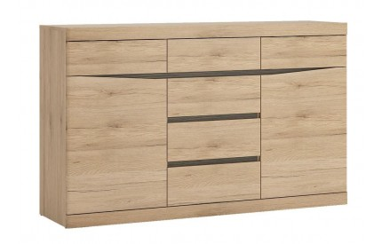 Kensington Living 2 Door 6 Drawer Sideboard Oak