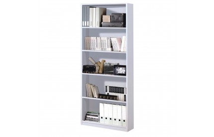 Pacific Book Shelf 5 Shelves High Shine White