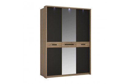Monaco 3 Door Mirrored Wardrobe