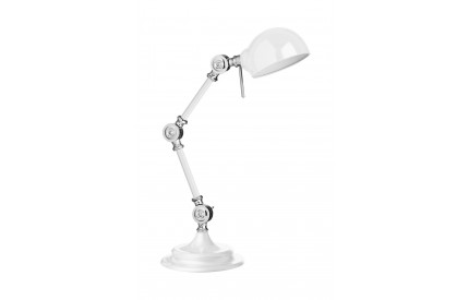 Library Adjustable Table Lamp Metal White