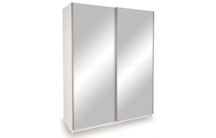 Vermont White Slider Mirror Doors