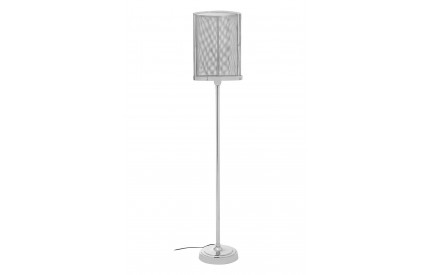 Myles Floor Lamp Silver Finish Mesh Shade