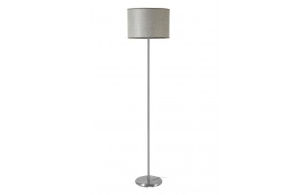 Forma Floor Lamp Chrome Effect Grey Waffle Effect Shade
