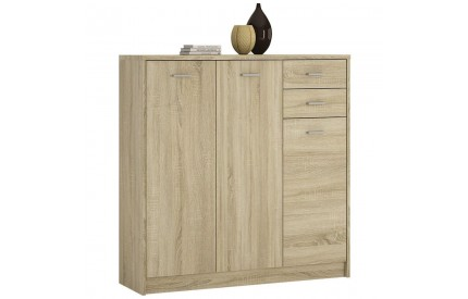 4 You Tall 3 Door Sanoma Oak Sideboard