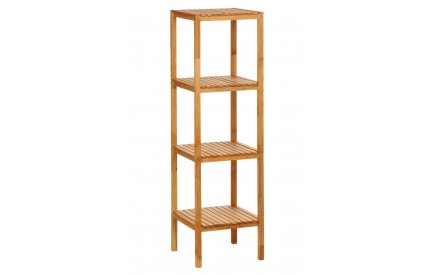 Shelf Unit Natural Walnut 4 Tier