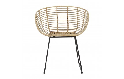 Java Decor Tiger Chair Natural Rattan Iron