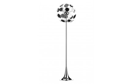 Disc Floor Lamp Chrome