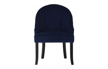 Denby Chair Blue Fabric Black Rubberwood Legs