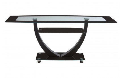 Coffee Table Black  Clear Tempered Glass Metal Frame