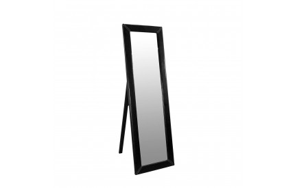Black Leather Cheval Mirror