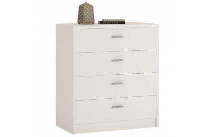 4 You 4 Drawer Chest in Pearl White
