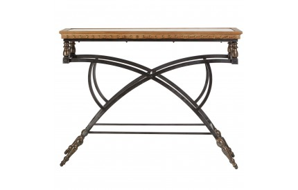 Firly Console Table Fir Wood/Metal Distressed Finish