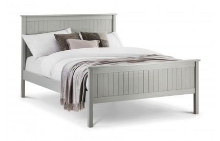 Maine Soft Grey Wooden Bed