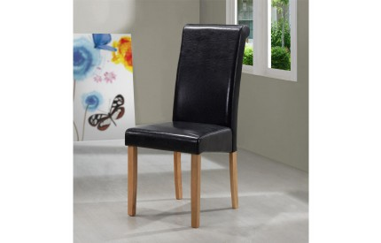 Marley Leather Solid Wood Dining Chair