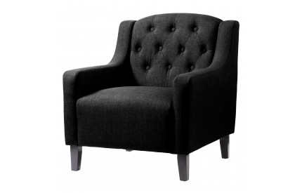 Emily Fabric Arm Chair Black