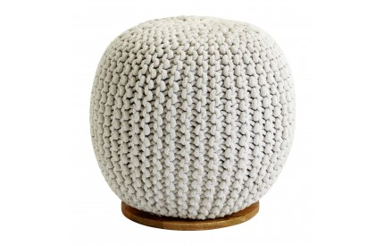 Enfused Pouffe Natural Mango Wood