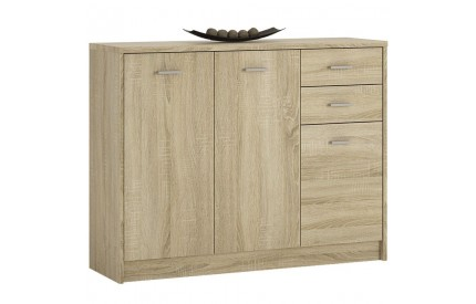 4 You 3 Door 2 Drawer Wide Cupboard in Sonama Oak