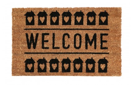Welcome Doormat PVC Backed Coir
